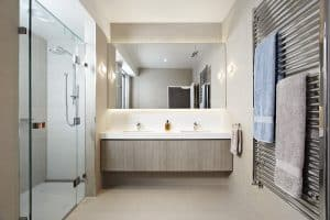 Precision Shower Screens Bathroom frameless shower screen