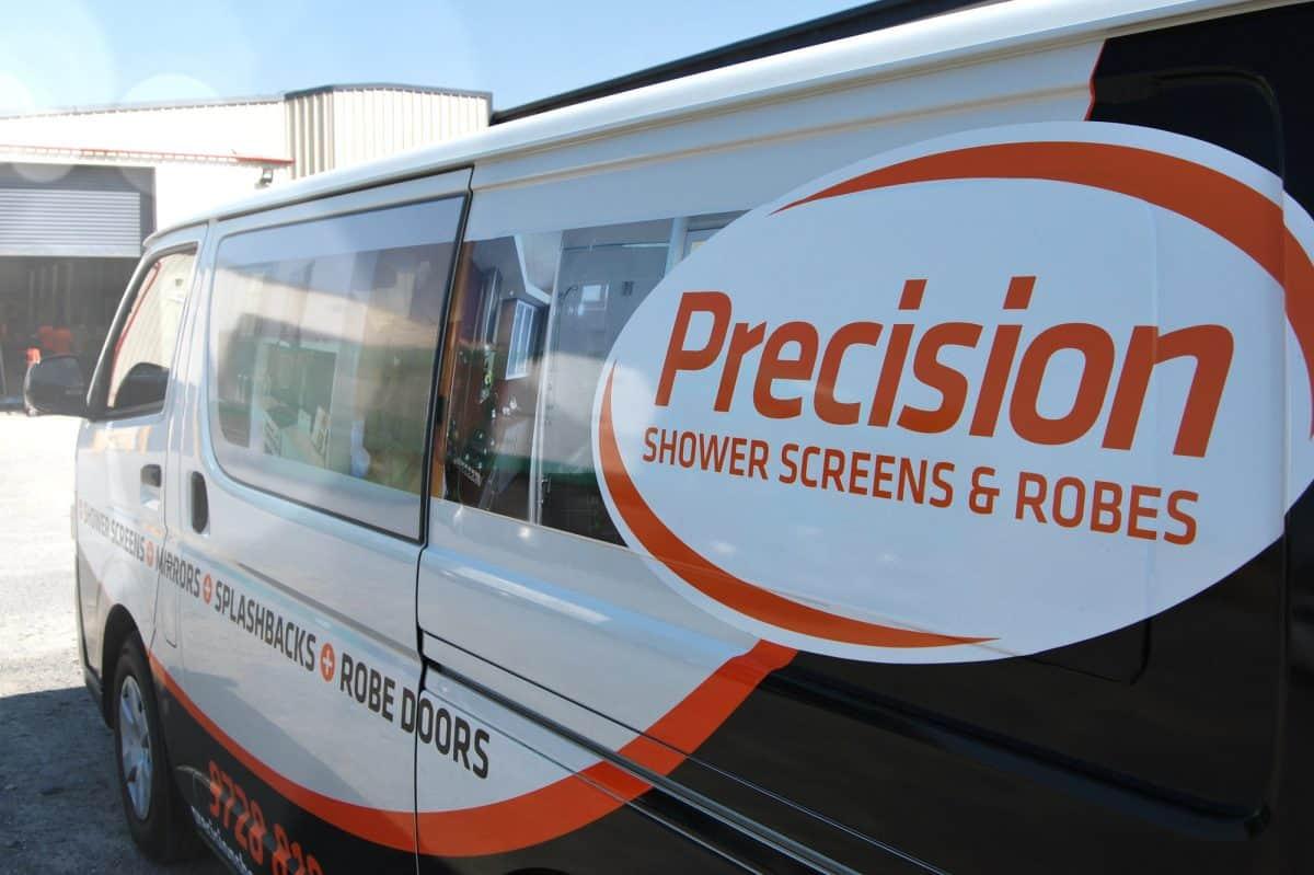 Precision Shower Screens van